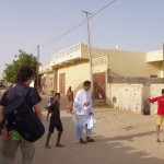 Playing football with mauritanian children